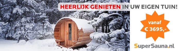 Barrel Sauna - Heerlijk genieten in uw eigen tuin!