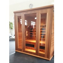 INFRAROOD SAUNA 4 LUX RED CEDAR SHOWROOM VLIERDEN