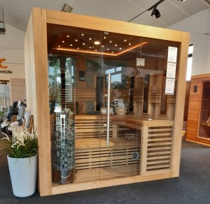 SAUNA COMBINATIE INFRAROOD GEROMIN 212+IR SHOWROOM MODEL VLIERDEN