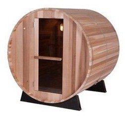 BARREL SAUNA ARCTIC RED CEDAR 8 HOOG