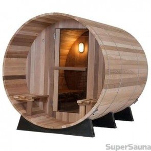 BARREL SAUNA ARCTIC RED CEDAR 6 LUIFEL