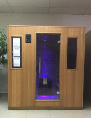 COMBI SAUNA 6 COMFORT RED CEDAR SHOWROOM ZOLDER