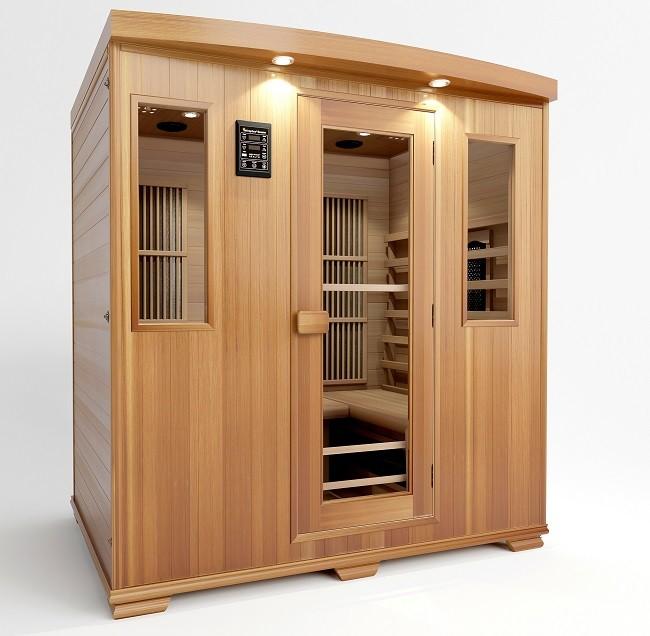 sauna combinatie infrarood voor 4 personen vanaf 2699. Black Bedroom Furniture Sets. Home Design Ideas