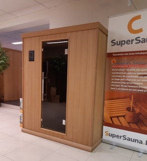 INFRAROOD SAUNA 150 NATURE RED CEDAR TOONZAAL MODEL ZOLDER