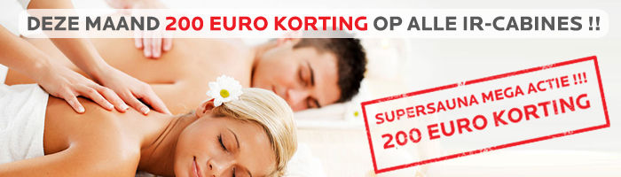 Infraroodcabine 200,- korting! Nog of Nooit infrarood cabine deals!