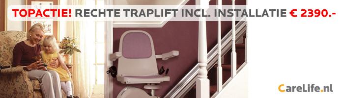 Tijdelijk topaanbieding voor Rechte Traplift!